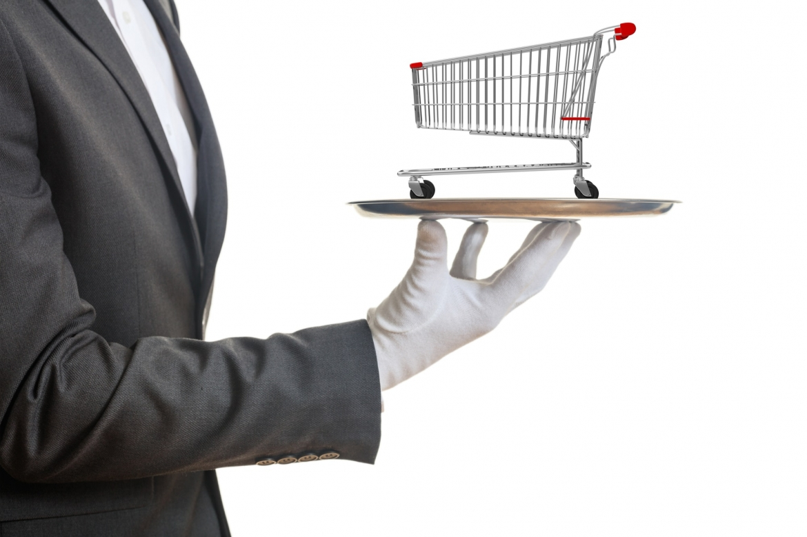 waiter-holding-a-silver-platter-with-an-empty-shopping-trolley-on-white-background-3d-illustration.jpg